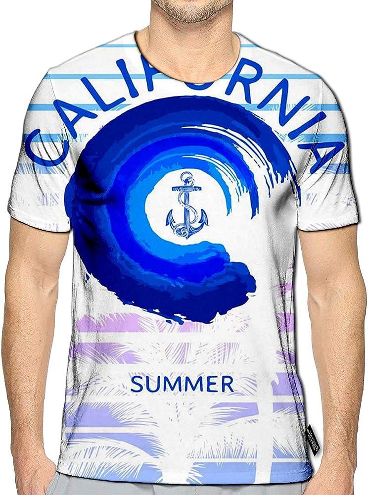 YILINGER T-Shirt 3D Printed Summer Beach Retro Style Casual Tees