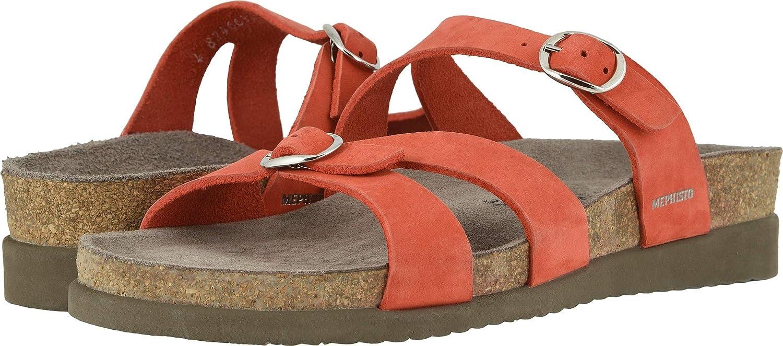Coral Nubuck Mephisto Women's Hannel Sandals