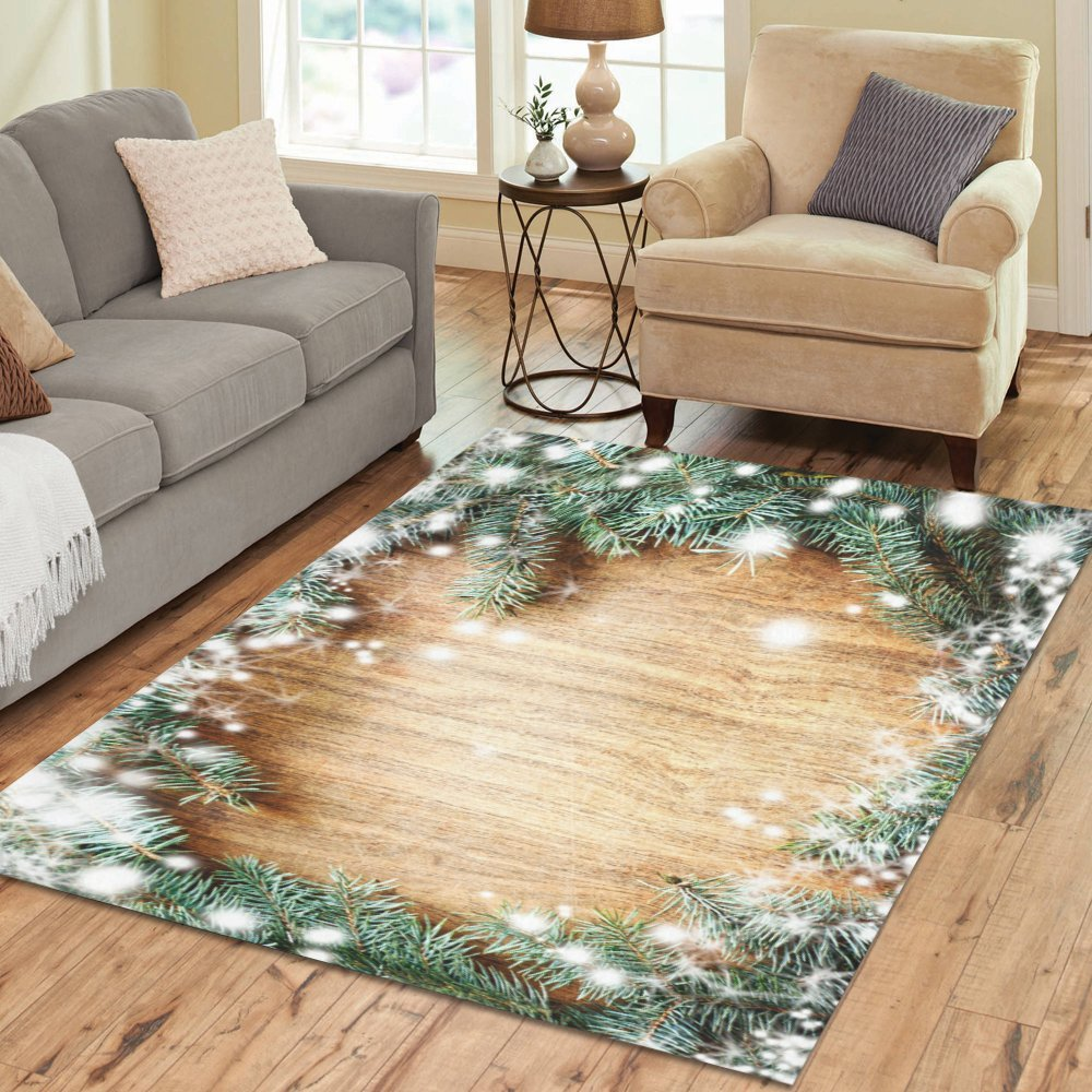 Love Nature Sweet Home Stores Collection Custom Christmas Tree Area Rug 7'x5' Indoor Soft Carpet