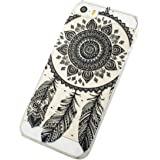 Malloom® Pour iPhone 5C Henna Full Mandala Floral Dream Catcher Cuir Coque Strass Case Etui Coque étui de portefeuille protection Coque Case Cas Cuir