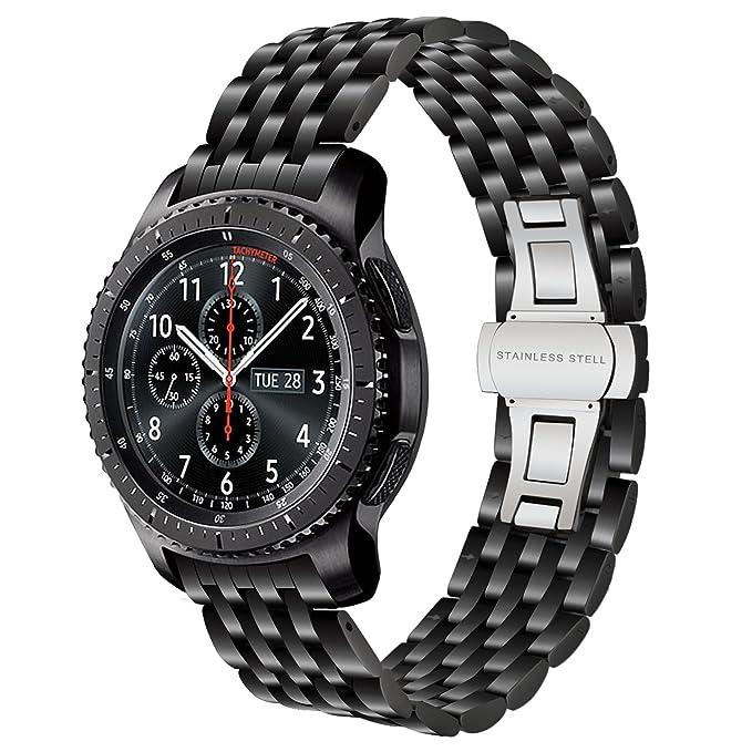 iWonow Correa de Reloj de Acero Inoxidable para Samsung Gear ...