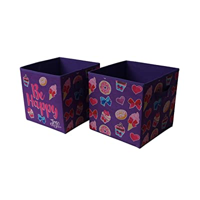JoJo Siwa Collapsible Storage Cubes, (Pack of 2), Purple: Toys & Games