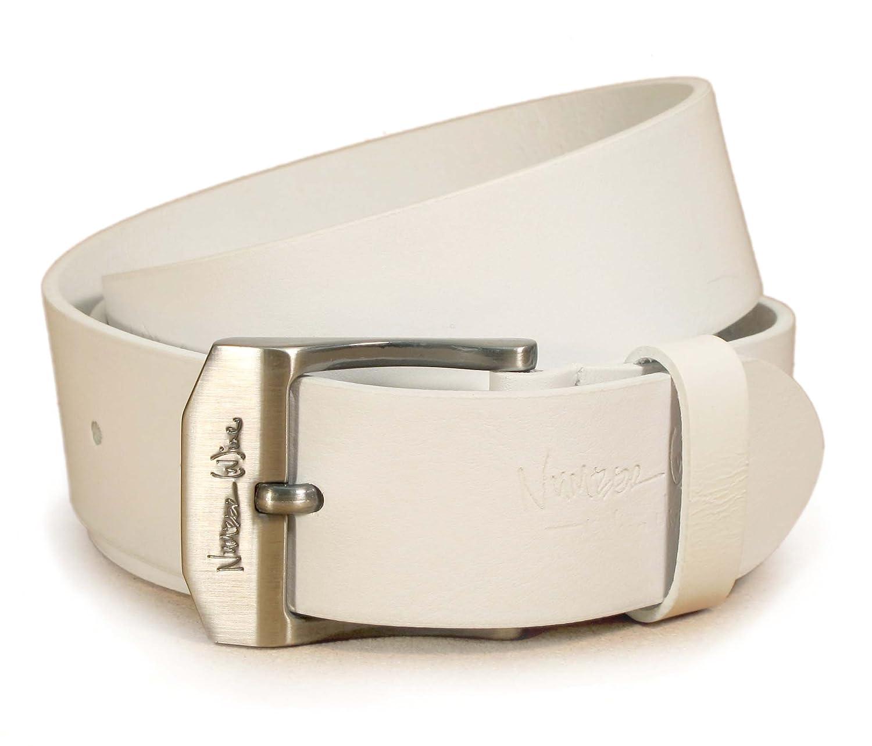 """(CM1-103) Hombre Cinturón Blanco 100% Cuero Real 28,30,32,34,36,38,40,42pulgadas Ancho 1,5"""" Cuero italiano"""