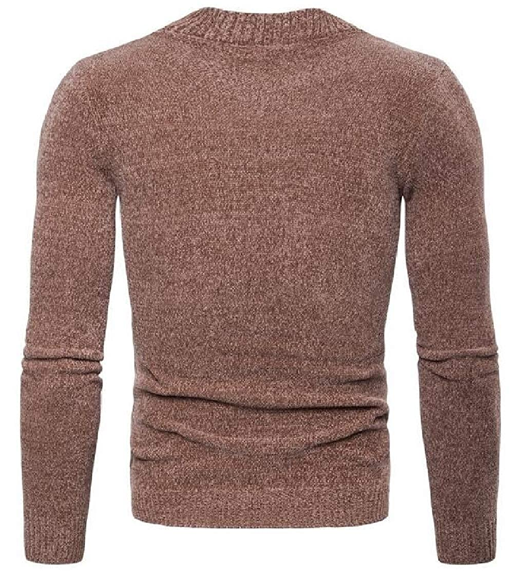 Yayu Mens Lightweight Premium Slim Fit Crew Neck Soft Fitted Pullover Sweater