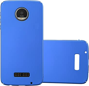 Cadorabo Funda para Motorola Moto Z Play en Metal Azul: Amazon.es: Electrónica