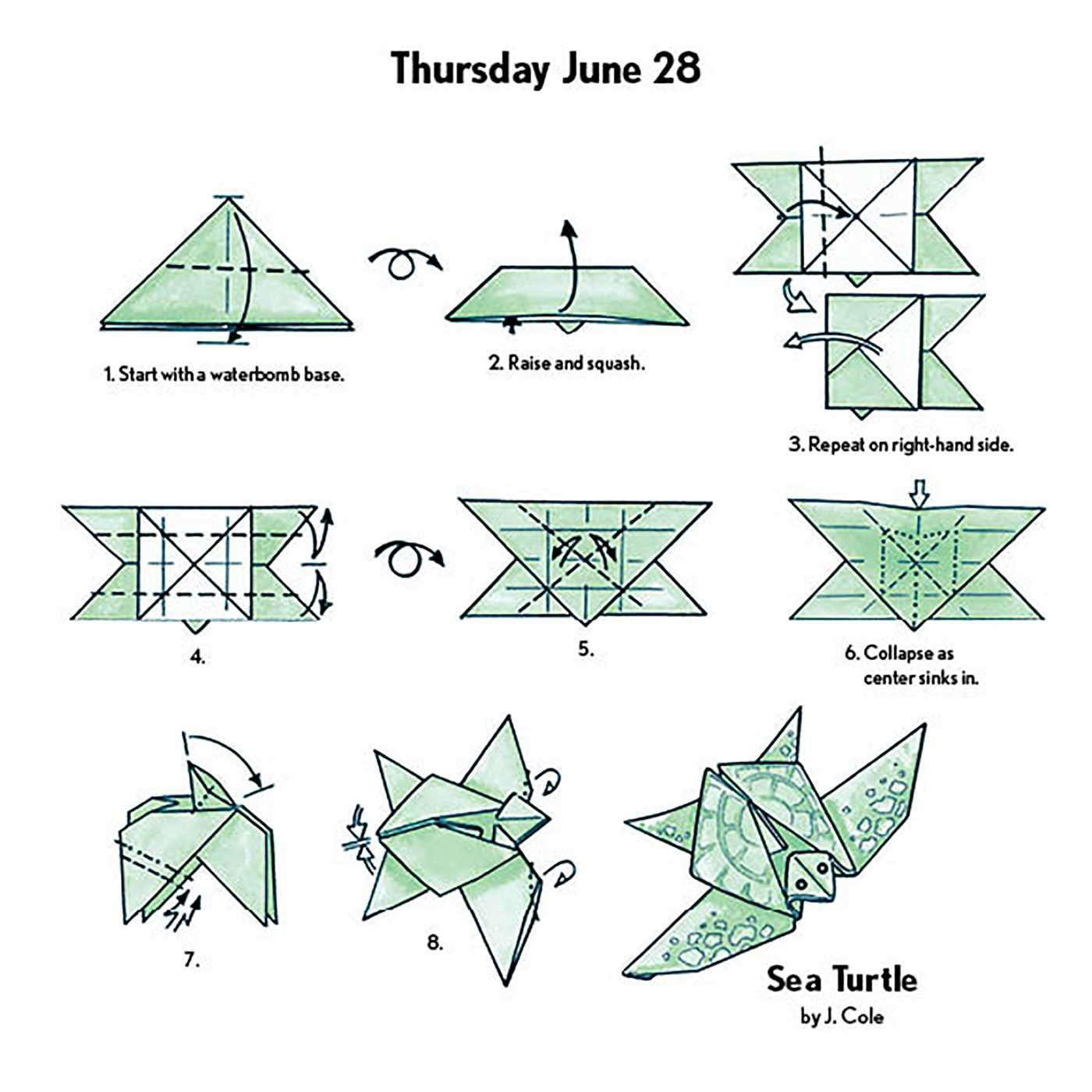Easy Origami Fold A Day 2018 Calendar Jeff Cole 9781449482626