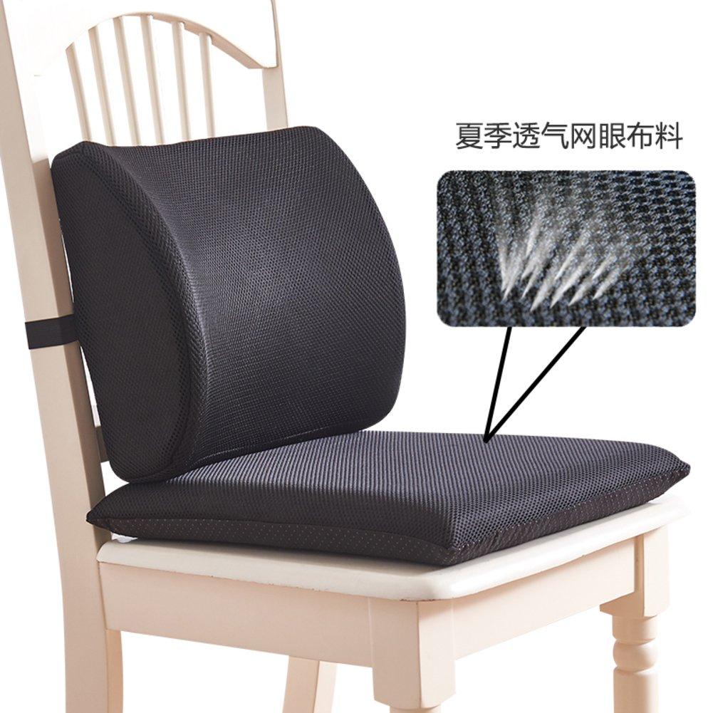 QY&LA ワンピース クッション オフィスチェア 腰椎クッション 低反発コットン ブースターシートパッド EWHUDHJCDBC  J B07DR9QTMS