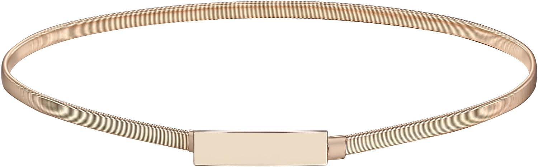 cintura decorativa da donna elastica Babeyond elasticizzata sottile in metallo
