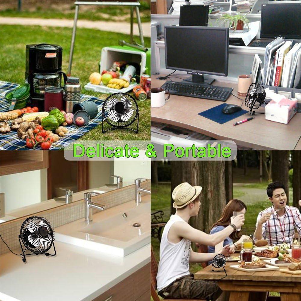 OUYAWEI Home Mini USB Table Desk Personal Fan USB-Powered?Portable Fan Desktop USB Fan Portable Cooling Solution Portable for Desktop Tabletop Floor Office Room Travel