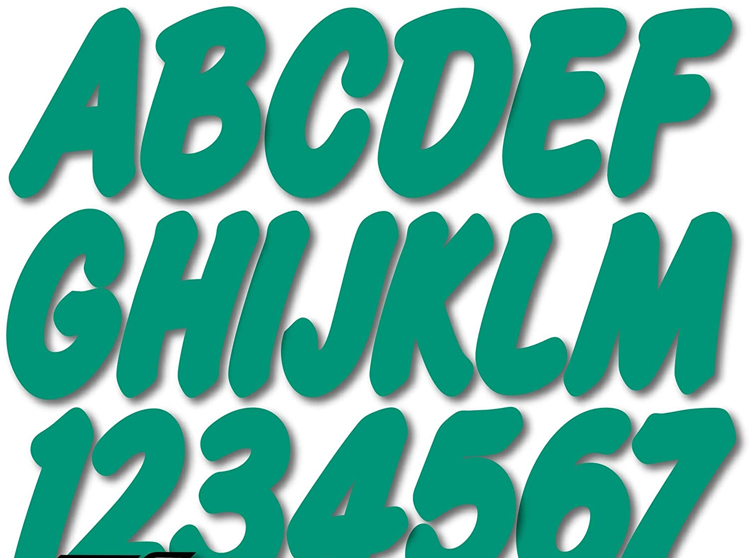 Stiffie Whip-One Teal 3 Alpha-Numeric Registration Identification Numbers Stickers Decals for Boats /& Personal Watercraft