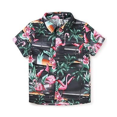 Phorecys - Camisa de Playa para niño, de Manga Corta, Informal, de ...