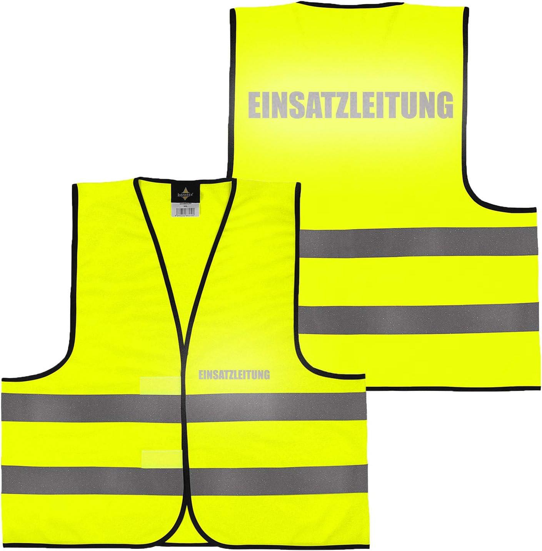 beidseitig bedruckt auf Brust und R/ücken Reflex mit Ordner Security gro/ße Auswahl Motive Aufdrucke 027 Fahrschule M Warnweste Gelb Orange Orange