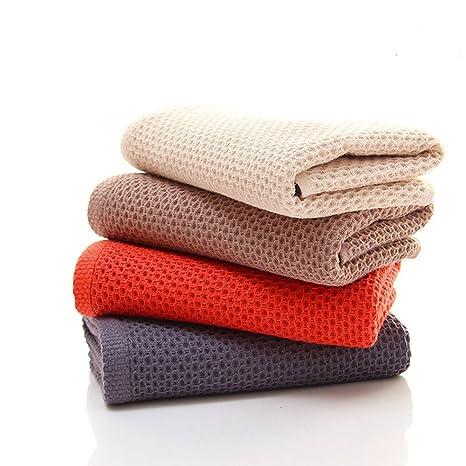 chrislz Pack de 4 toallas de algodón de color puro toalla de mano abeja forma manopla
