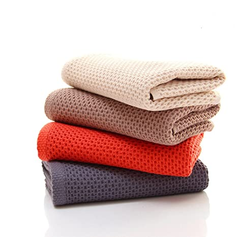 CHRISLZ Paquete de 4 toallas de algodón 100% Toalla de mano de color puro Toalla