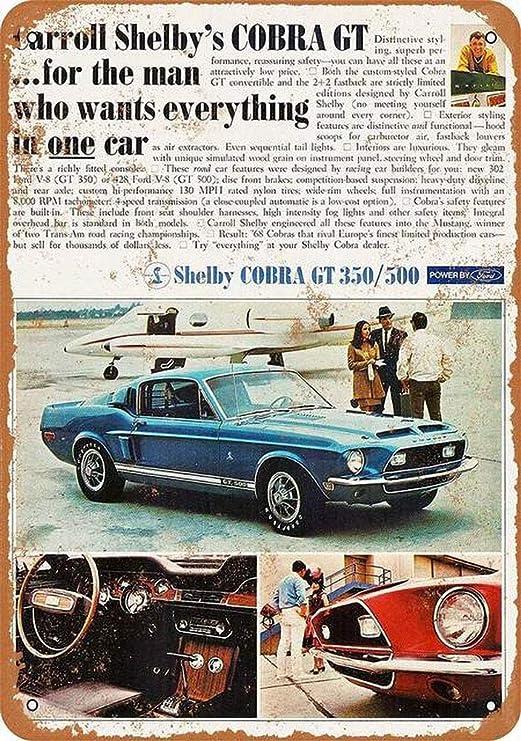 Toddrick Mustang Shelby Cobra Cartel de Chapa Estilo Vintage ...