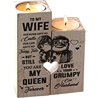 Heyeam Candle Holder for Wife Candle Holder with Candle Husband to Wife You are My Queen Forever Gifts for Birthday…