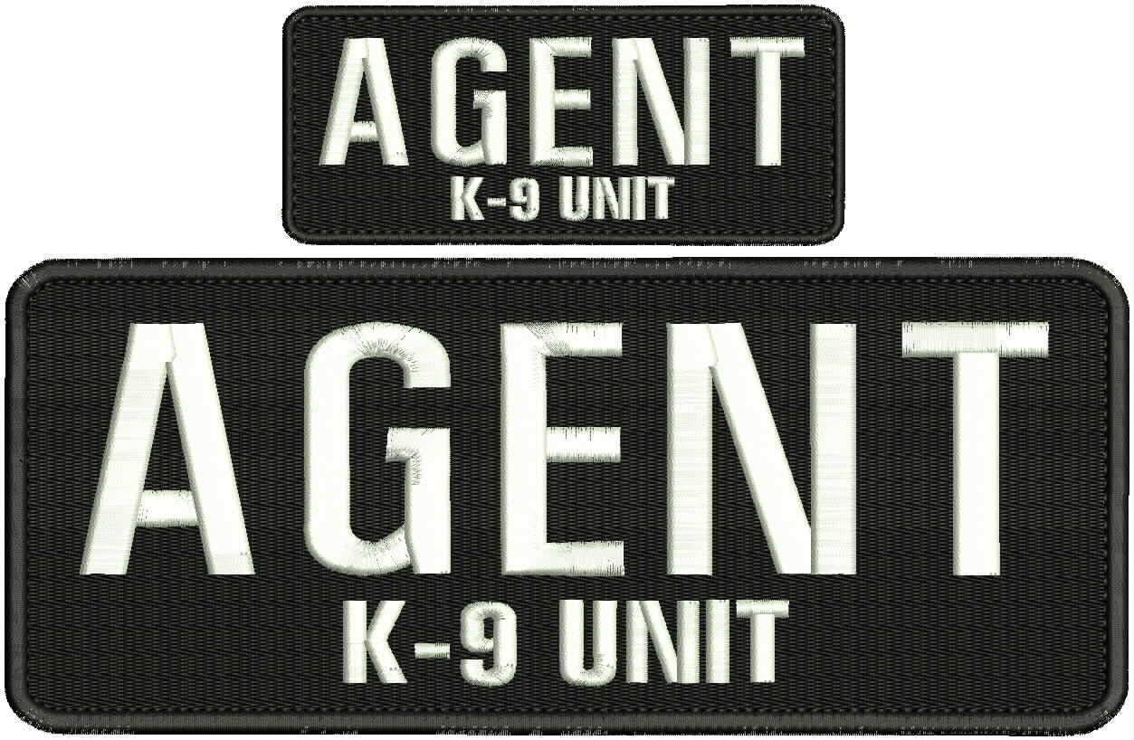Embroidered Patch - Patches for Women Man - Agent K-9 Unit Hook All Black White by Patcherer