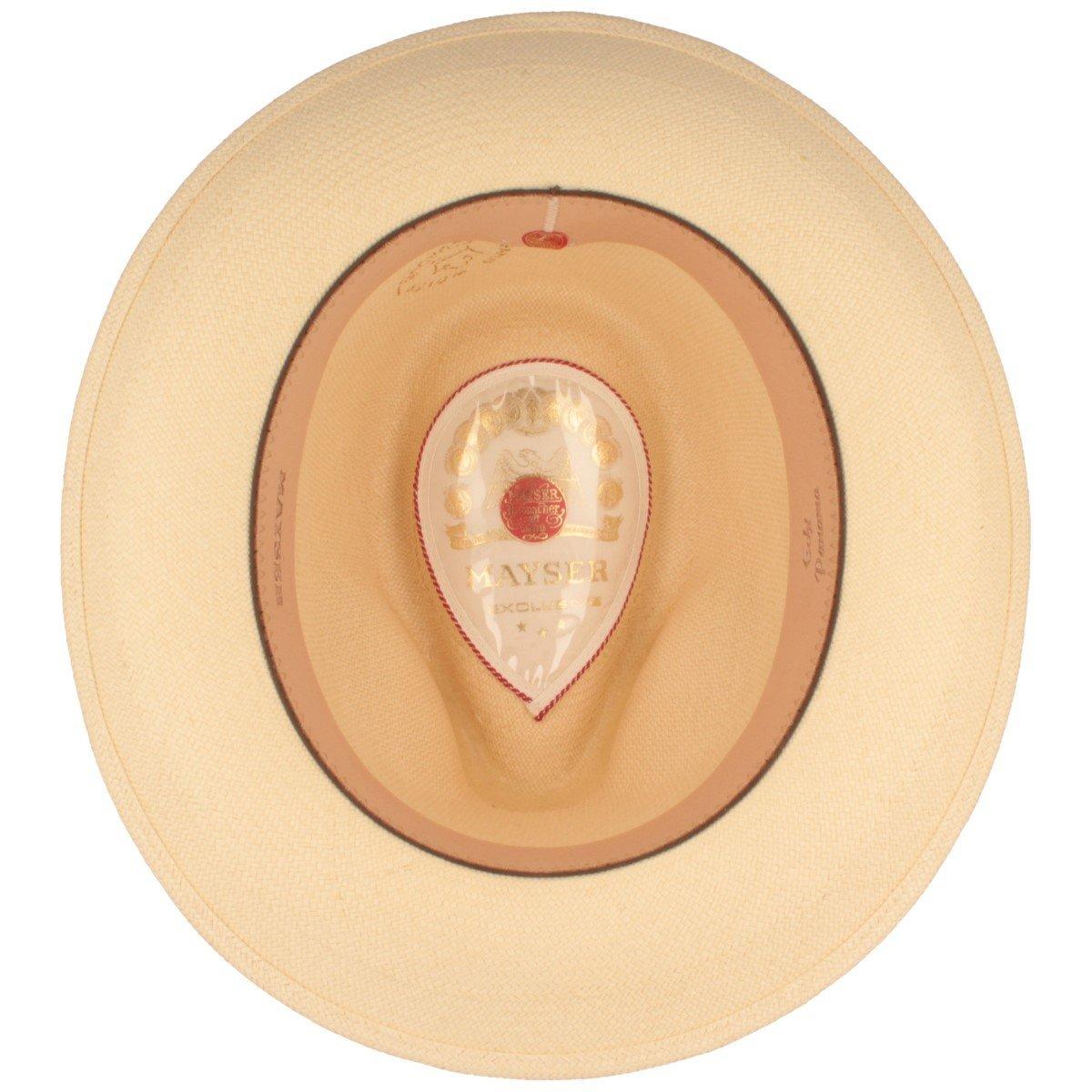 ORIGINAL Sombrero Panamá | Sombrero de paja tejido a mano en Ecuador – Correa ancha exterior – Protección Solar UV 80 – Resistente al agua – Material ...