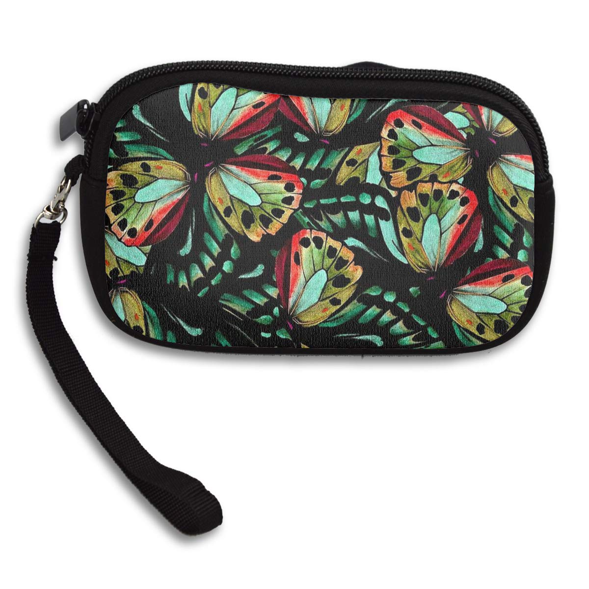 Coin Purse Beautiful Butterfly wallet change Purse with Zipper Wallet Coin Pouch Mini Size Cash Phone Holder