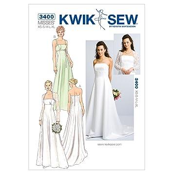 KwikSew Schnittmuster 3400 Brautkleid Gr. XS-XL: Amazon.de: Küche ...