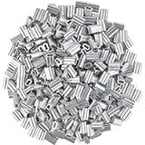800pc Aluminum Crimping Loop Sleeve Ferrule Cable Ferrule Crimping Loop Sleeve Wire Rope Sleeves for 1/16' Diameter Wire…