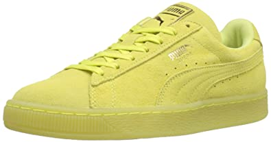 83e2e4c47911 PUMA Women s Suede Classic ICED WN s Fashion Sneaker Soft Fluo Yellow-Gold  ...