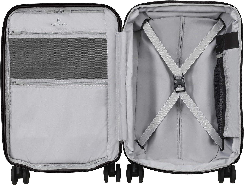 3,1Kg Victorinox Connex Global Hardside Carry-On Valigia Trolley Bagaglio a Mano Espandibile 34l Grigio Rigido Leggero 4 doppie Ruote 23x35x55cm