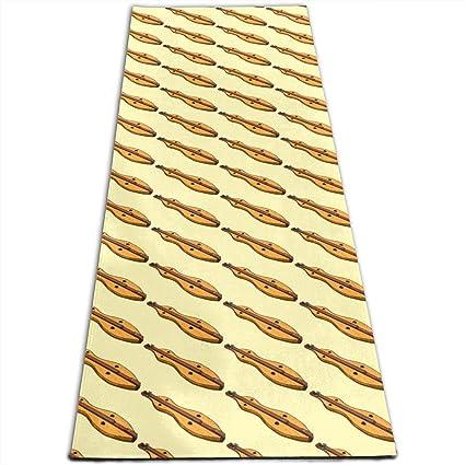 Amazon.com: Dulcimer Music Pattern Printed Yoga Mat Prana ...