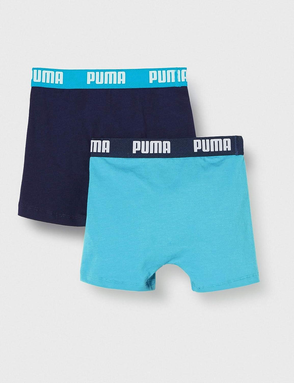 Multicolore PUMA Boys Basic Boxer 2P Pantaloncino Bright Blue 789 16 Anni Pacco da 2 Bambino