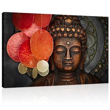 Amazon.com: Lienzo de Buda para pared de madera, estatua de ...