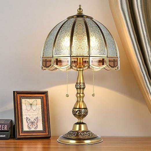 Lampe De Bureau Cuivre Chambre Lampe De Chevet Luxe Retro Chaud
