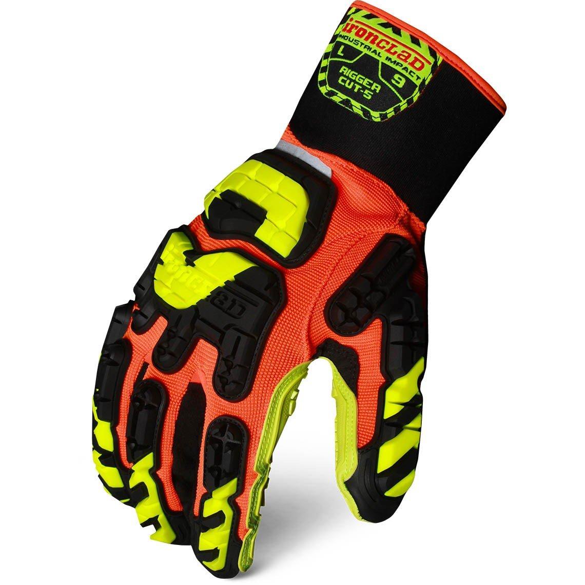 IRONCLAD Vibram Rigger Cut-5 Impact Protection Glove IRON-VIB-RIGC5 (Extra Large)
