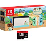"""Nintendo Switch with Green and Blue Joy-Con - Animal Crossing: New Horizons Edition - 6.2"""" Touchscreen LCD Display, 802…"""