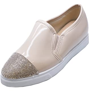 LADIES FLAT ORANGE SLIP-ON FLAT CASUAL PLIMSOLL PUMPS LOAFERS TRAINERS SHOES 3-8