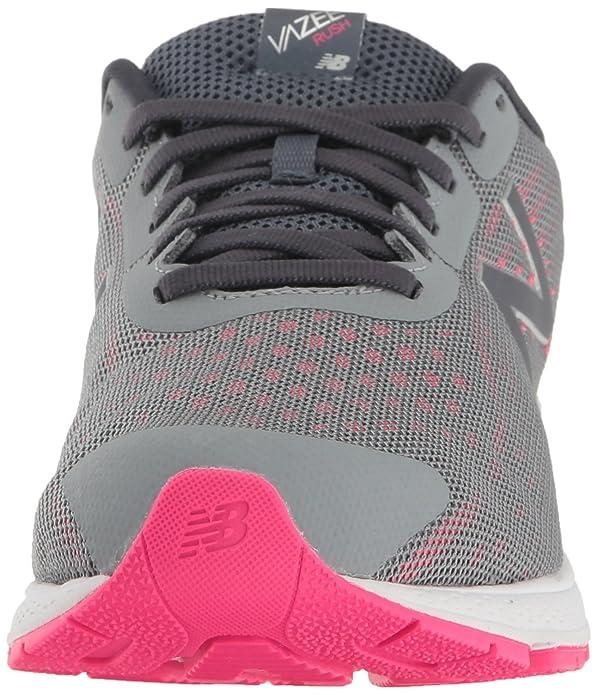 New Balance Girls' Kjrus Running Shoe, Grey/Pink, 13.5 Wide US Little Kid
