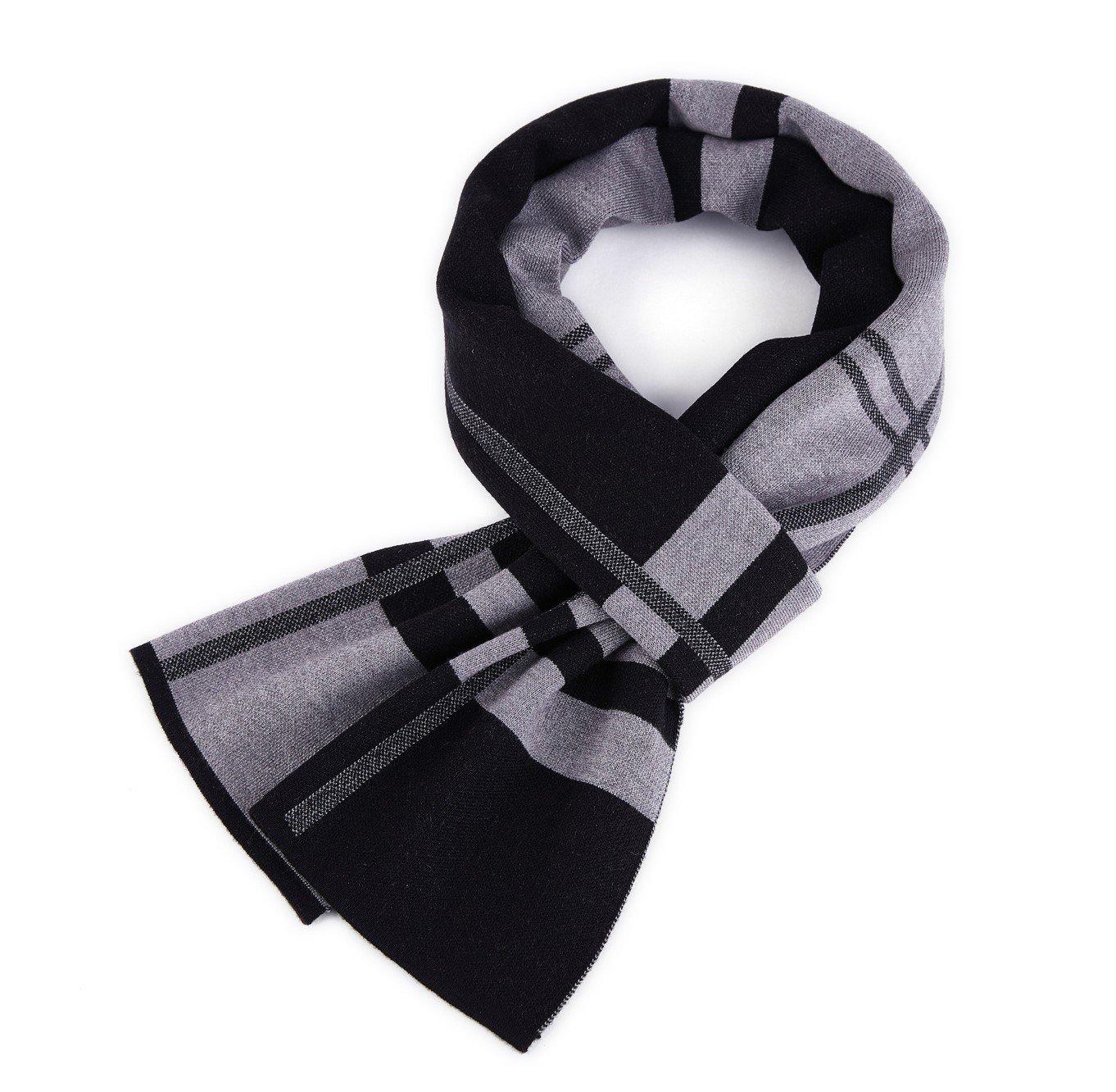 VINMEN ACCESSORY メンズ B074GZ3PXF Grey+black Grey+black
