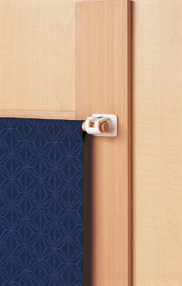 Hook for Noren Bar 2pcs H-141 White By LEC (Japan Import) Noren Holder H-141 by LEC