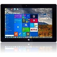 "10"" Windows 10 Fusion5 Ultra Slim Windows Tablet PC- (2GB RAM, 32GB Storage, FWIN232 Model, Full size USB 3.0, Intel quad-core, 5MP and 2MP Dual Cameras, Bluetooth, Windows 10 Home Tablet PC)"