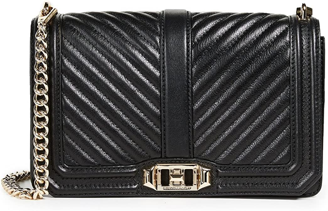 retail prices new product classic styles Amazon.com: Rebecca Minkoff Women's Chevron Quilted Love Cross ...