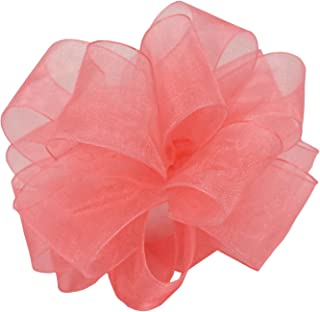 "product image for Offray Berwick LLC 427194 Berwick Simply Sheer Asiana Ribbon - 1-1/2"" W X 25 yd - Rose Pink Ribbon"