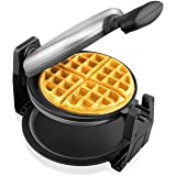Aicok Belgian Waffle Maker, Stainless Steel Waffle Iron, Fast & Easy, 180 Degree Flipping, Non-stick Plates, Automatic Double-sided Heating Baking For Fluffy & Golden Waffles