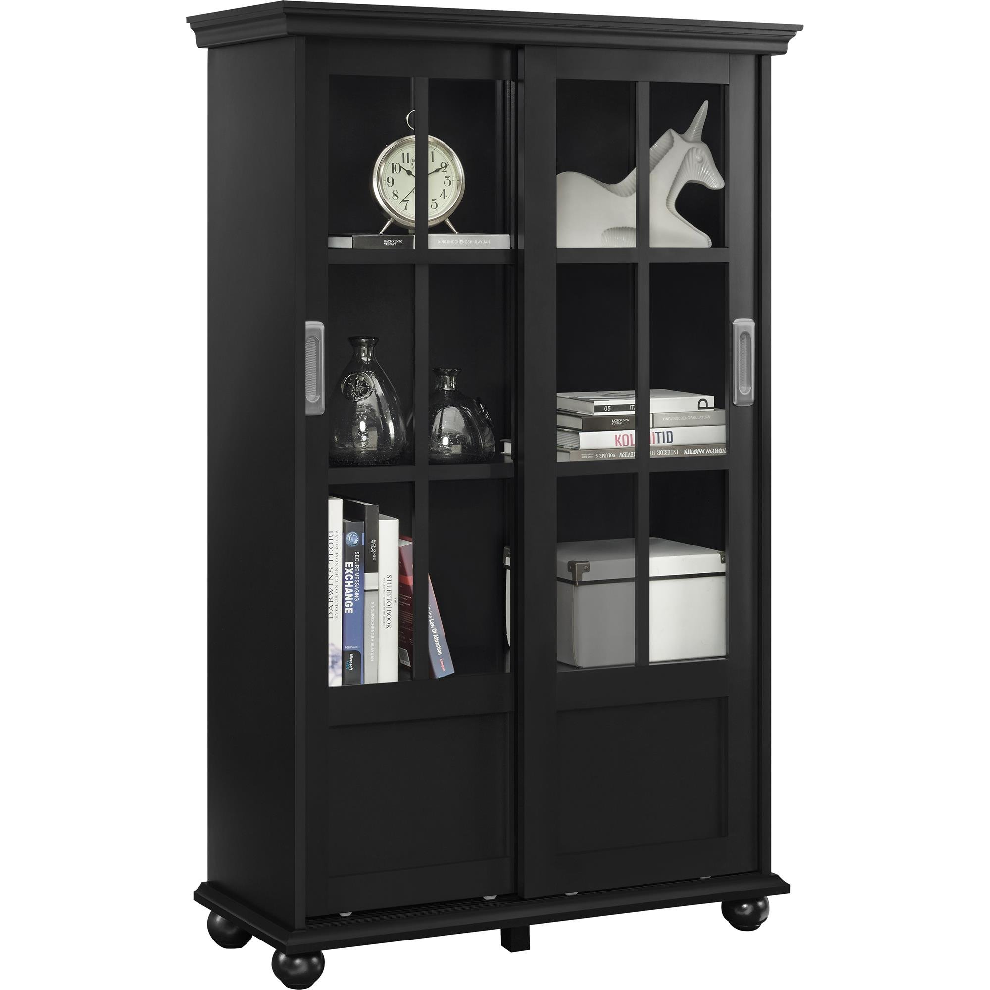 Altra Furniture Altra Aaron Lane Bookcase With Sliding Glass Doors
