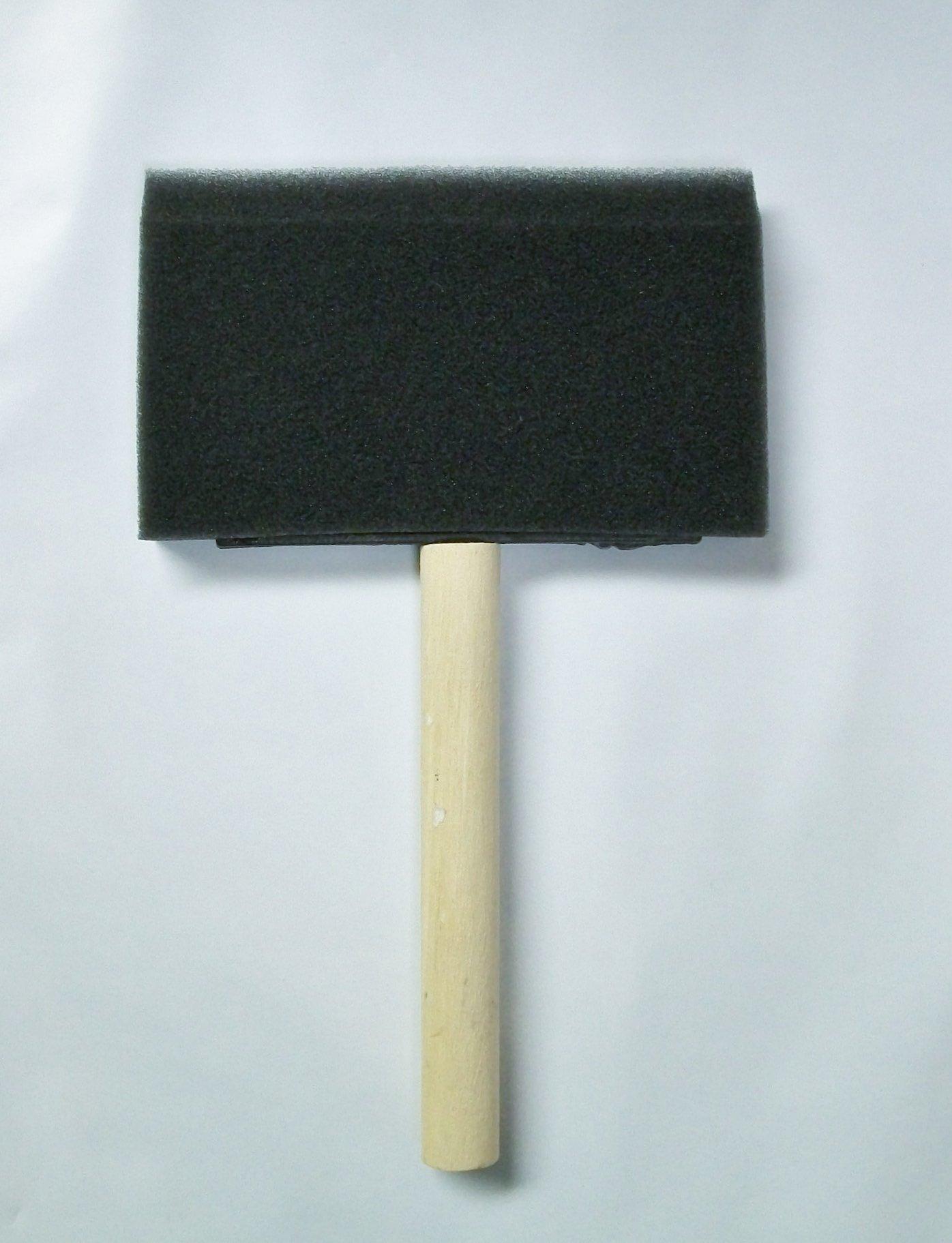 4'' Foam Brush with Wood Handle, 75pc