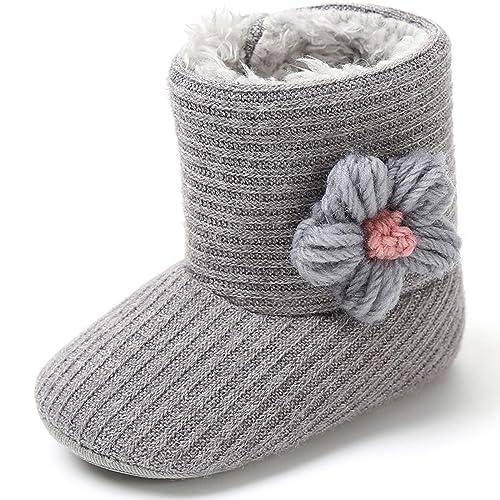 Amazon.com: Vanberfia - Botas de nieve para bebé (0-18 meses ...