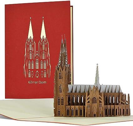 Cupón de viaje I fin de semana en Colonia, tarjeta pop-up 3D de ...