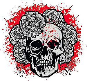Diamond Painting Adult Painting Kits Gothic Sign Skull and Flowers Grunge Vintage Home Bedroom Living Room Art Wall Decoration 16
