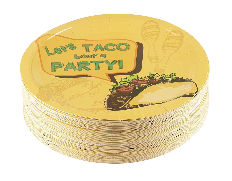 Amazon.com: 80 paquetes placa desechables de 9 inches taco ...