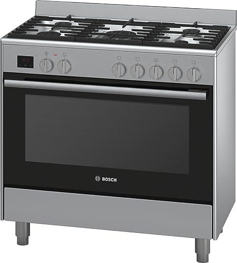 Bosch - Cucina Gas 112L 5 fuochi acciaio inox - hsb736257e ...