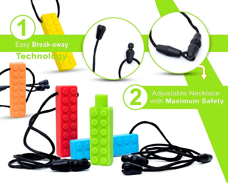 3 Packs Sensory Chew Halskette mit Bonus-Bleistift Topper TYRY.HU Set Bei/ßring Silikon Kauen Anh/änger perfekt f/ür Autismus ADHS SPD Oral Motor Zahnen und Bei/ßen braucht Tough und langlebig