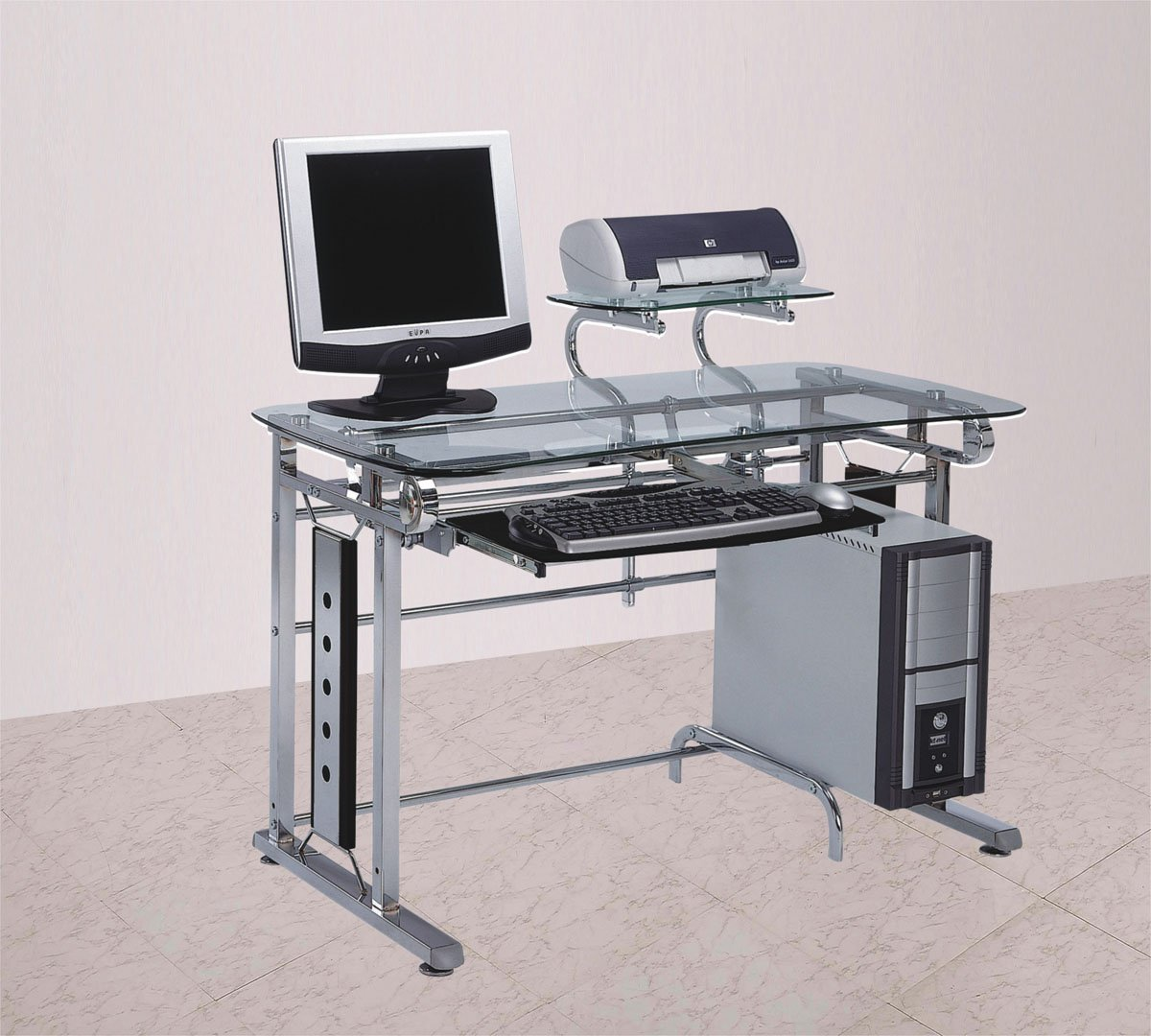 chrome office desk. Chrome Office Desk